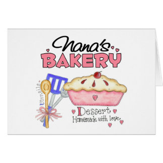 Regalo de la panadería de Nana Tarjetón