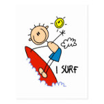 Regalo de la persona que practica surf postal