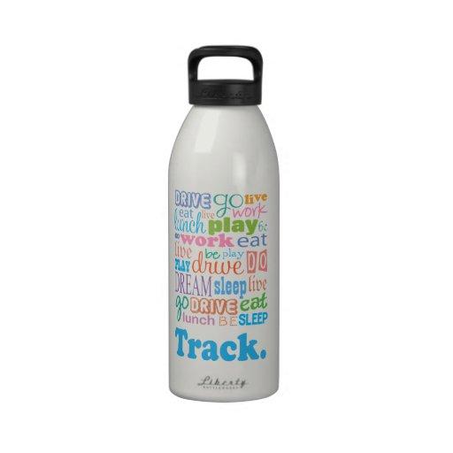 Regalo de la pista botellas de beber