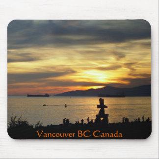 Regalo de la puesta del sol de Canadá del recuerdo Alfombrillas De Ratones