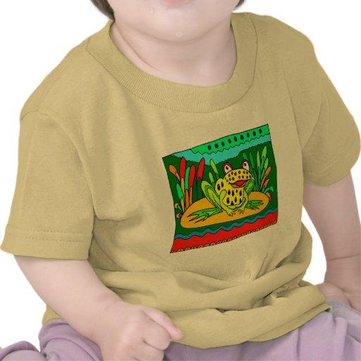 Regalo de la rana de las camisetas y de los niños