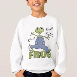 Regalo de la rana para los niños sudadera