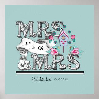 Regalo de la señora y de boda de señora impresiones