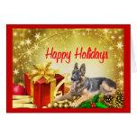 Regalo de la tarjeta de Navidad del pastor alemán