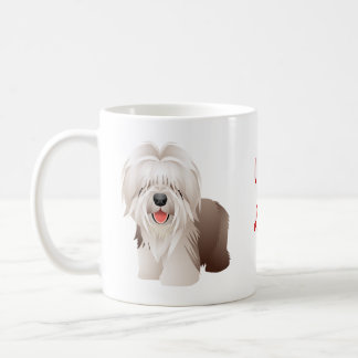 Regalo de la taza de Coffe del perro de ovejas de