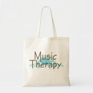 Regalo de la terapia de música bolsa tela barata