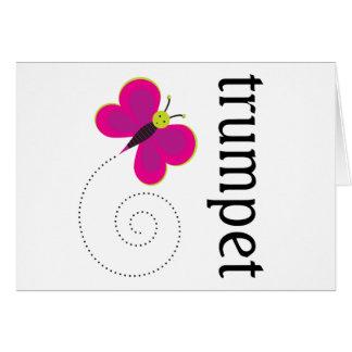 Regalo de la trompeta de la mariposa de la música tarjeta de felicitación