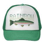 Regalo de la trucha arco iris para un pescador o u gorros