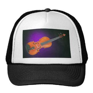 Regalo de la viola del violín en fondo azul gorro de camionero