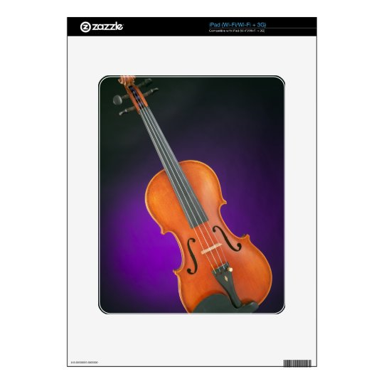 Regalo de la viola del violín en fondo azul skin para el iPad