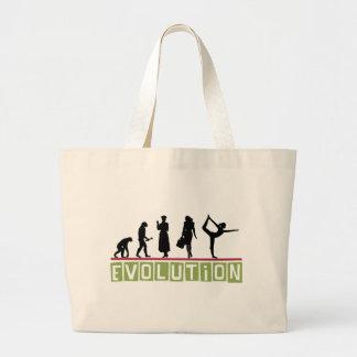Regalo de la yoga de la evolución bolsa tela grande