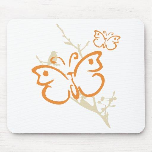 Regalo de la yoga de la mariposa tapete de ratón
