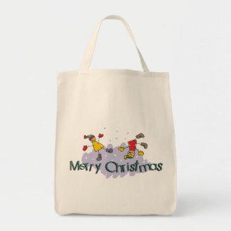 Regalo de las Felices Navidad Bolsa Tela Para La Compra