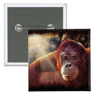 Regalo de los Fauna-amantes del primate de los Pin Cuadrado