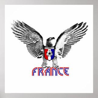 Regalo de los jugadores de fútbol de Francia Eagle Poster