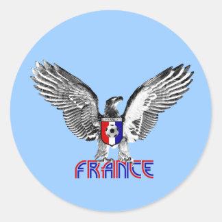 Regalo de los jugadores de fútbol de Francia Eagle Etiquetas Redondas
