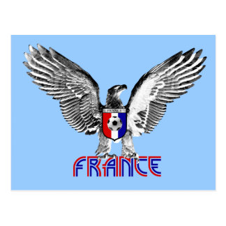 Regalo de los jugadores de fútbol de Francia Eagle Postal
