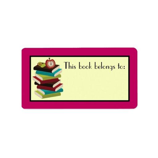 Regalo de los pegatinas del Bookplate del lector d Etiqueta De Dirección