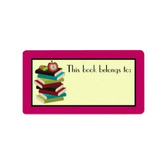 Regalo de los pegatinas del Bookplate del lector Etiquetas De Dirección