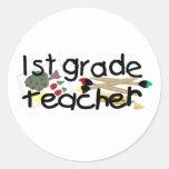 Regalo de los profesores pegatina redonda