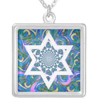Regalo de Mitzvah del palo. ¡Collar del regalo de Collar Plateado