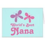 Regalo de Nana del mundo de la libélula el mejor Tarjetón