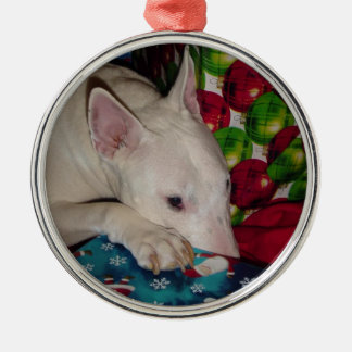 regalo de Navidad de bull terrier del inglés Adorno