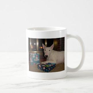 regalo de Navidad de bull terrier del inglés Taza Básica Blanca