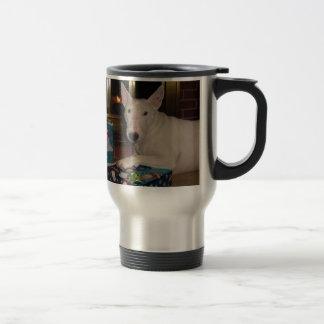regalo de Navidad de bull terrier del inglés Taza De Viaje De Acero Inoxidable