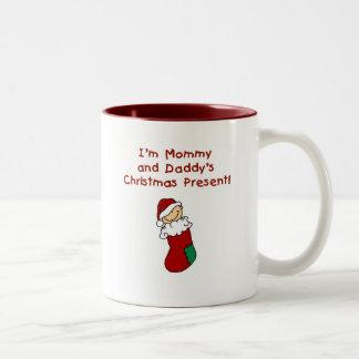 Regalo de Navidad de la mamá y del papá Taza De Café