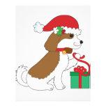 Regalo de Navidad del perro Membrete Personalizado