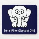 Regalo de Navidad divertido: ¡Regalo real del elef Mouse Pads