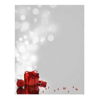 Regalo de Navidad - papel de letra de los efectos Membrete Personalizado