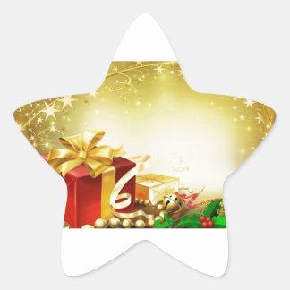 Regalo de Navidad Pegatina Forma De Estrella Personalizada