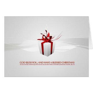 Regalo de Navidad Tarjeta De Felicitación