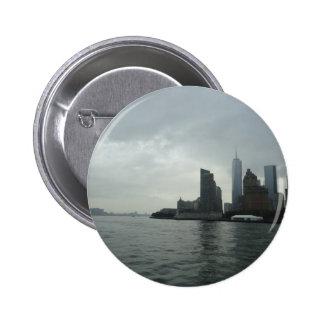 Regalo de Nueva York Manhattan el río Hudson Pin Redondo De 2 Pulgadas