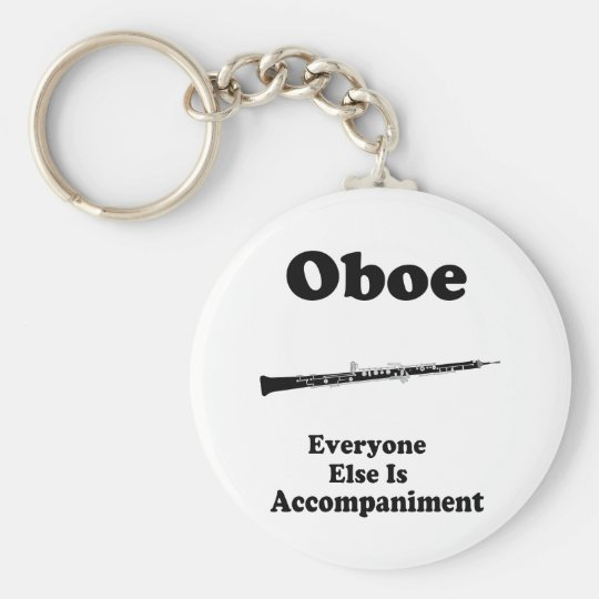 Regalo de Oboe Llavero Redondo Tipo Pin