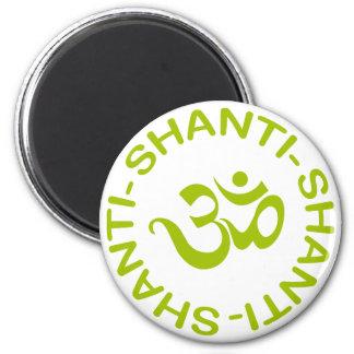Regalo de OM Shanti Shanti Shanti Imán