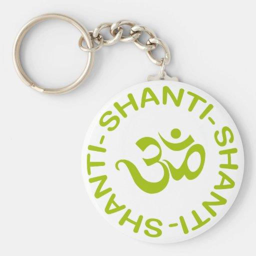 Regalo de OM Shanti Shanti Shanti Llaveros Personalizados