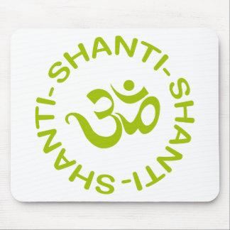 Regalo de OM Shanti Shanti Shanti Tapetes De Raton