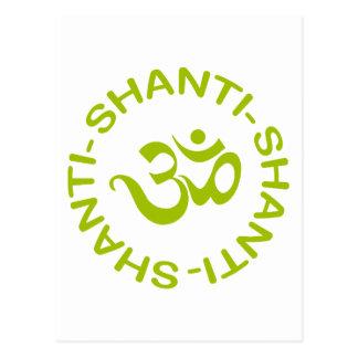 Regalo de OM Shanti Shanti Shanti Tarjetas Postales