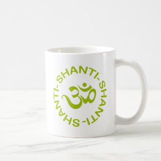 Regalo de OM Shanti Shanti Shanti Taza De Café