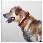 Regalo de oro del Perro-amante del labrador Servilleta