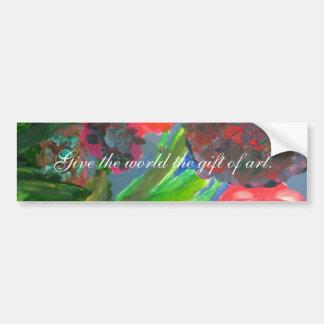 Regalo de pegatina para el parachoques del arte pegatina de parachoque