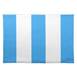 Regalo de Placemat de la raya de 2012 nuevos azule Manteles
