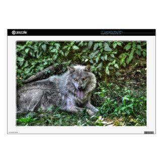 Regalo de reclinación de la fauna del lobo gris 3 43,2cm portátil calcomanías