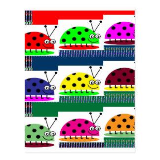 Regalo de señora Bug Fantasy Artistic KIDS de la Tarjeta Postal