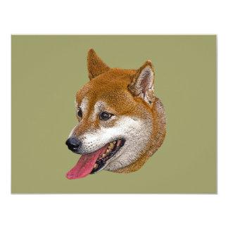 """Regalo de Shiba Inu Invitación 4.25"""" X 5.5"""""""
