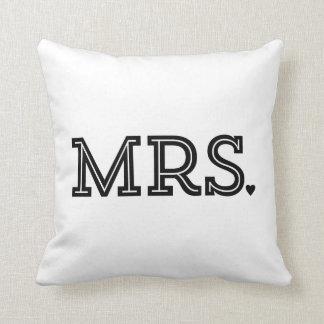 Regalo de Sr. y de señora Cute Wedding Keepsake Ne Cojines