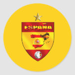 Regalo de una estrella de los campeones de Espana Pegatina Redonda